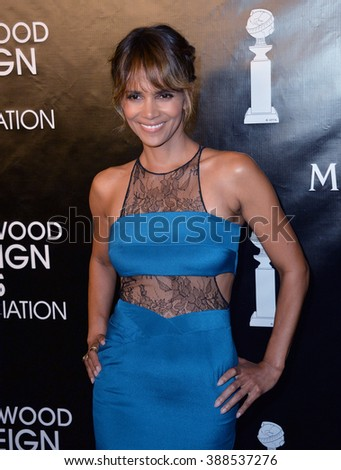 LOS ANGELES, CA - AUGUST 13, 2015: Halle Berry at the Hollywood Foreign Press Association's Grants Banquet at the Beverly Wilshire Hotel. - stock photo