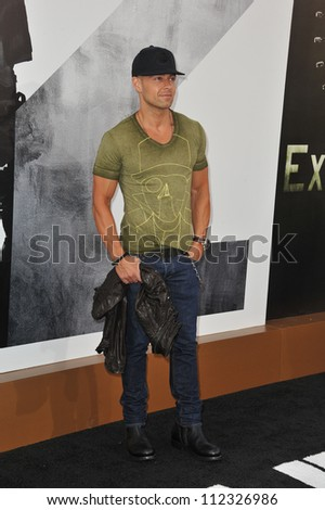 "LOS ANGELES, CA - AUGUST 16, 2012: Joey Lawrence at the Los Angeles premiere of ""The Expendables 2"" at Grauman's Chinese Theatre, Hollywood."