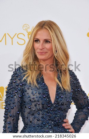 LOS ANGELES, CA - AUGUST 25, 2014: Julia Roberts at the 66th Primetime Emmy Awards at the Nokia Theatre L.A. Live downtown Los Angeles.  - stock photo