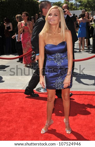 LOS ANGELES, CA - AUGUST 21, 2010: Kristin Chenoweth at the 2010 Creative Arts Emmy Awards at the Nokia Theatre L.A. Live.