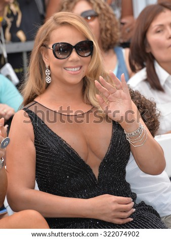 LOS ANGELES, CA - AUGUST 5, 2015: Mariah Carey on Hollywood Boulevard where she was honored with the 2,556th star on the Hollywood Walk of Fame.