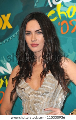 LOS ANGELES, CA - AUGUST 9, 2009: Megan Fox at the 2009 Teen Choice Awards at the Gibson Amphitheatre Universal City. - stock photo