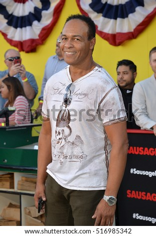 "LOS ANGELES, CA. August 9, 2016: Singer Ray Parker Jr at the world premiere of ""Sausage Party"" at the Regency Village Theatre, Westwood."