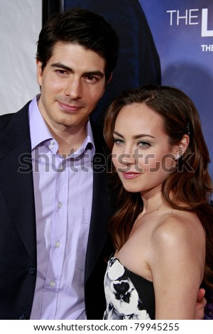 LOS ANGELES, CA - DEC 7: Brandon Routh and wife Courtney Ford at the premiere of 'The Lovely Bones' held at the Mann's Grauman Chinese Theater in Los Angeles, California on December 07, 2009 - stock photo