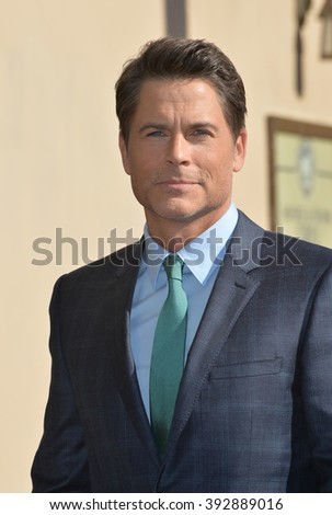 LOS ANGELES, CA - DECEMBER 8, 2015: Actor Rob Lowe on Hollywood Boulevard where he was honored with the 2,567th star on the Hollywood Walk of Fame.  - stock photo
