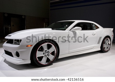 LOS ANGELES, CA. - DECEMBER 3: Chevrolet Camaro Chroma Concept at the 2009 Los Angeles Auto Show at L.A. Convention Center on December 3, 2009 in Los Angeles - stock photo
