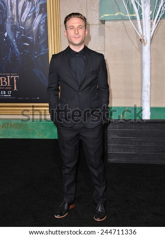 "LOS ANGELES, CA - DECEMBER 9, 2014: Dean O'Gorman at the Los Angeles premiere of his movie ""The Hobbit: The Battle of the Five Armies"" at the Dolby Theatre, Hollywood.  - stock photo"