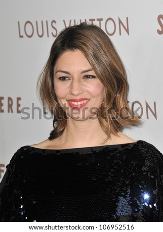 "LOS ANGELES, CA - DECEMBER 7, 2010: Director Sofia Coppola at the Los Angeles premiere of her new movie ""Somewhere"" at the Arclight Theatre, Hollywood. December 7, 2010  Los Angeles, CA"