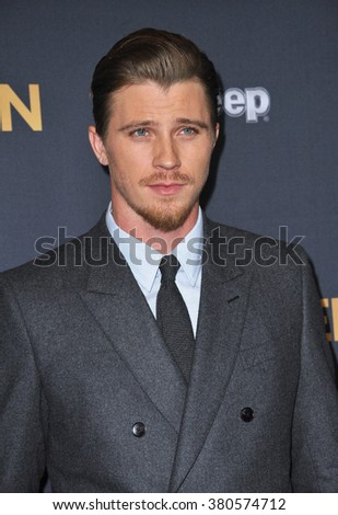 "LOS ANGELES, CA - DECEMBER 15, 2014: Garrett Hedlund at the Los Angeles premiere of his movie ""Unbroken"" at the Dolby Theatre, Hollywood."