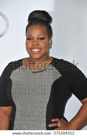 "LOS ANGELES, CA - DECEMBER 8, 2013: ""Glee"" star Amber Riley at the 15th Anniversary TrevorLIVE gala to benefit the Trevor Project at the Hollywood Palladium."