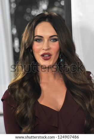 """LOS ANGELES, CA - DECEMBER 12, 2012: Megan Fox at the world premiere of her new movie """"This Is 40"""" at Grauman's Chinese Theatre, Hollywood. - stock photo"""