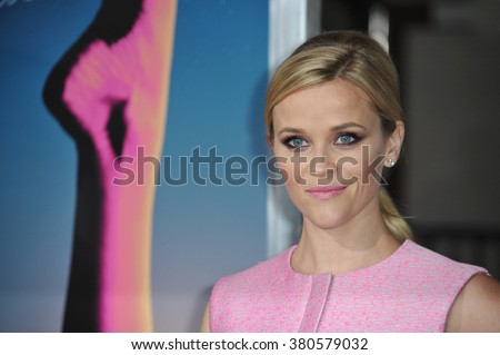 "LOS ANGELES, CA - DECEMBER 10, 2014: Reese Witherspoon at the Los Angeles premiere of her movie ""Inherent Vice"" at the TCL Chinese Theatre, Hollywood. - stock photo"