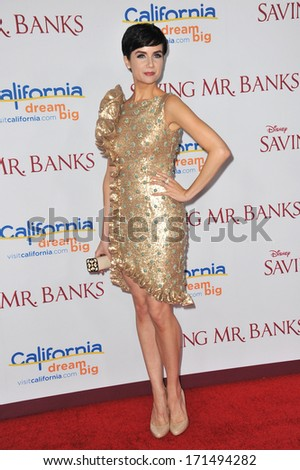 "LOS ANGELES, CA - DECEMBER 9, 2013: Victoria Summer at the US premiere of her movie ""Saving Mr Banks"" at Walt Disney Studios, Burbank.  - stock photo"