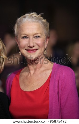 LOS ANGELES, CA - FEB 22: Helen Mirren at the world premiere of 'John Carter' on February 22, 2012 at Regal Cinemas in downtown in Los Angeles, California