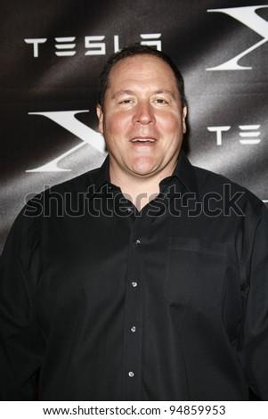 LOS ANGELES, CA - FEB 9: Jon Favreau at the Tesla Worldwide Debut of Model X on February 9, 2012 in Hawthorne, Los Angeles, California - stock photo