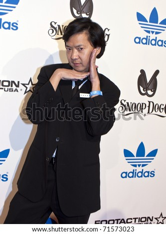 LOS ANGELES, CA - FEBRUARY 19: Actor Ken Jeong attends the Adidas and Snoop Dogg Co-Host ASW Party at The Standard Hotel on February 19, 2011 in Los Angeles, California. - stock photo