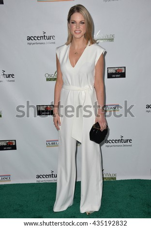 LOS ANGELES, CA - FEBRUARY 25, 2016: Actress Amy Huberman at the US-Ireland Alliance's 11th Annual Oscar Wilde pre-Academy Awards event honoring the Irish in Film.  - stock photo