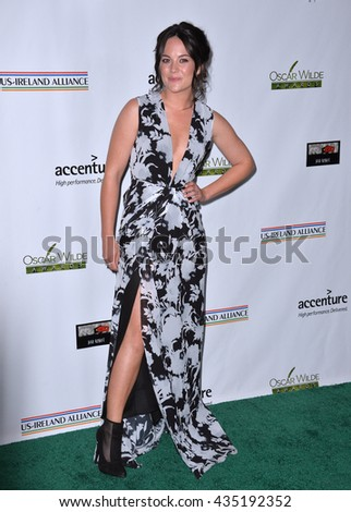 LOS ANGELES, CA - FEBRUARY 25, 2016: Actress Sarah Greene at the US-Ireland Alliance's 11th Annual Oscar Wilde pre-Academy Awards event honoring the Irish in Film.