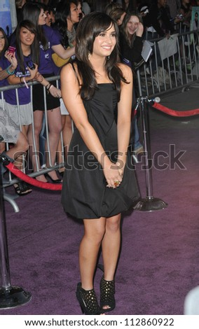 """LOS ANGELES, CA - FEBRUARY 24, 2009: Demi Lovato at the world premiere of her new movie """"Jonas Brothers: The 3D Concert Experience"""" at the El Capitan Theatre, Hollywood. - stock photo"""