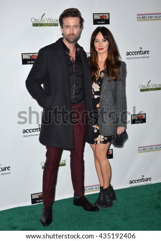 LOS ANGELES, CA - FEBRUARY 25, 2016: Irish actor Emmett Scanlan & actress wife Claire Cooper at the US-Ireland Alliance's 11th Annual Oscar Wilde pre-Academy Awards event honoring the Irish in Film.