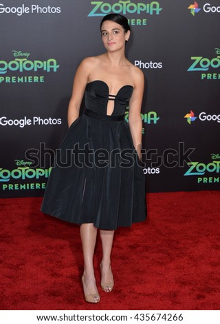 "LOS ANGELES, CA - FEBRUARY 17, 2016: Jenny Slate at the premiere of Disney's ""Zootopia"" at the El Capitan Theatre, Hollywood.