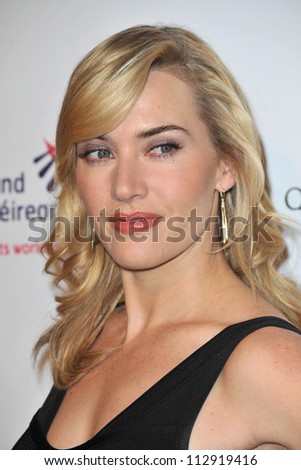 LOS ANGELES, CA - FEBRUARY 19, 2009: Kate Winslet at the US-Ireland Alliance Oscar Wilde Gala at the Ebell Club, Los Angeles. - stock photo