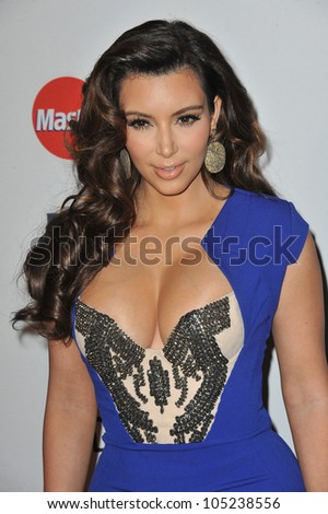 LOS ANGELES, CA - FEBRUARY 11, 2012: Kim Kardashian at the 2012 Clive Davis Pre-Grammy Party at the Beverly Hilton Hotel, Beverly Hills. February 11, 2012  Los Angeles, CA