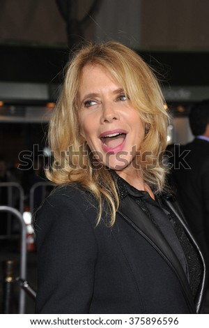 "LOS ANGELES, CA - FEBRUARY 24, 2014: Rosanna Arquette at the world premiere of ""Non-Stop"" at the Regency Village Theatre, Westwood."