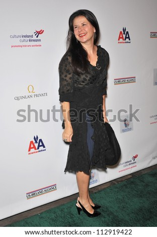 LOS ANGELES, CA - FEBRUARY 19, 2009: Tracey Ullman at the US-Ireland Alliance Oscar Wilde Gala at the Ebell Club, Los Angeles. - stock photo