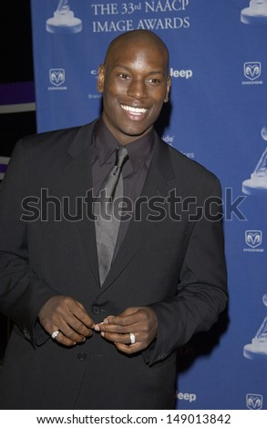LOS ANGELES, CA - FEBRUARY 23, 2002: TYRESE at the 33rd Annual NAACP Image Awards at Universal Studios, Hollywood.