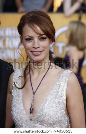 LOS ANGELES, CA - JAN 29: Berenice Bejo at the 18th annual Screen Actor Guild Awards at theShrine Auditorium on January 29, 2012 in Los Angeles, California - stock photo