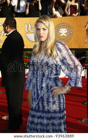LOS ANGELES, CA - JAN 29: Busy Philipps at the 18th annual Screen Actor Guild Awards at the Shrine Auditorium on January 29, 2012 in Los Angeles, California - stock photo
