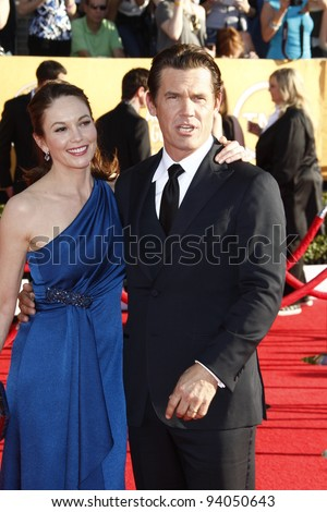 LOS ANGELES, CA - JAN 29: Diane Lane; Josh Brolin at the 18th annual Screen Actor Guild Awards at the Shrine Auditorium on January 29, 2012 in Los Angeles, California - stock photo