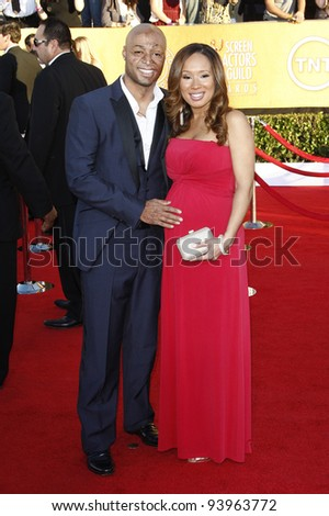 LOS ANGELES, CA - JAN 29: J R Martinez at the 18th annual Screen Actor Guild Awards at the Shrine Auditorium on January 29, 2012 in Los Angeles, California - stock photo