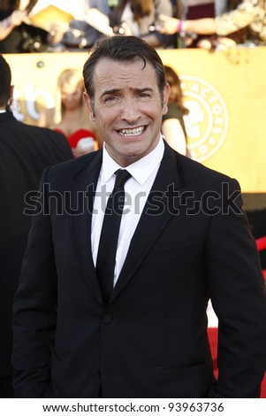 LOS ANGELES, CA - JAN 29: Jean Dujardin at the 18th annual Screen Actor Guild Awards at the Shrine Auditorium on January 29, 2012 in Los Angeles, California - stock photo