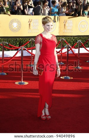 LOS ANGELES, CA - JAN 29: Michelle Williams at the 18th annual Screen Actor Guild Awards at the Shrine Auditorium on January 29, 2012 in Los Angeles, California - stock photo
