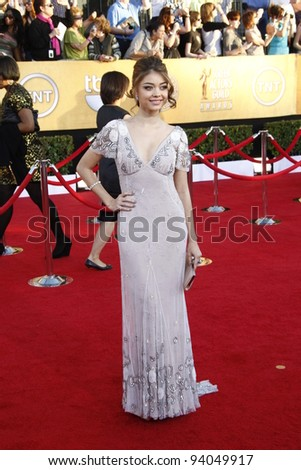 LOS ANGELES, CA - JAN 29: Sarah Hyland at the 18th annual Screen Actor Guild Awards at the Shrine Auditorium on January 29, 2012 in Los Angeles, California - stock photo