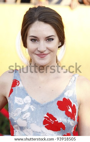 LOS ANGELES, CA - JAN 29: Shailene Woodley at the 18th annual Screen Actor Guild Awards at the Shrine Auditorium on January 29, 2012 in Los Angeles, California - stock photo