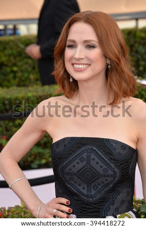 LOS ANGELES, CA - JANUARY 30, 2016: Actress Ellie Kemper at the 22nd Annual Screen Actors Guild Awards at the Shrine Auditorium - stock photo