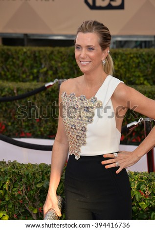 LOS ANGELES, CA - JANUARY 30, 2016: Actress Kristen Wiig at the 22nd Annual Screen Actors Guild Awards at the Shrine Auditorium - stock photo
