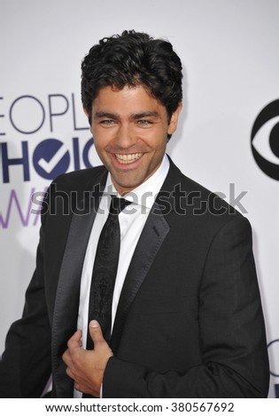 LOS ANGELES, CA - JANUARY 7, 2015: Adrian Grenier at the 2015 People's Choice  Awards at the Nokia Theatre L.A. Live downtown Los Angeles.