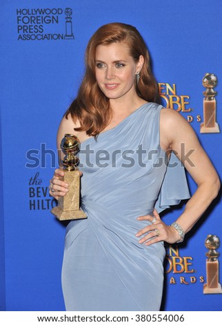 LOS ANGELES, CA - JANUARY 11, 2015: Amy Adams at the 72nd Annual Golden Globe Awards at the Beverly Hilton Hotel, Beverly Hills.