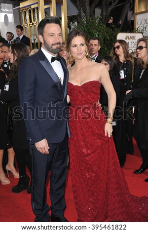 LOS ANGELES, CA - JANUARY 13, 2013: Ben Affleck & Jennifer Garner at the 70th Golden Globe Awards at the Beverly Hilton Hotel.