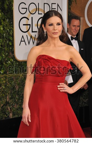 LOS ANGELES, CA - JANUARY 11, 2015: Catherine Zeta-Jones at the 72nd Annual Golden Globe Awards at the Beverly Hilton Hotel, Beverly Hills.