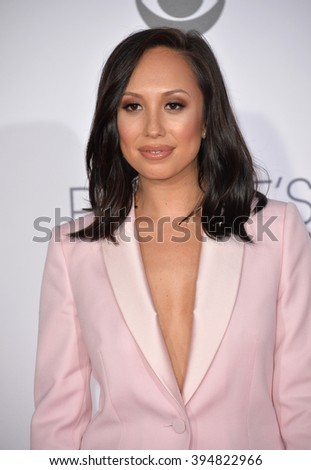LOS ANGELES, CA - JANUARY 6, 2016: Cheryl Burke at the People's Choice Awards 2016