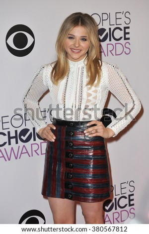 LOS ANGELES, CA - JANUARY 7, 2015: Chloe Grace Moretz at the 2015 People's Choice  Awards at the Nokia Theatre L.A. Live downtown Los Angeles.