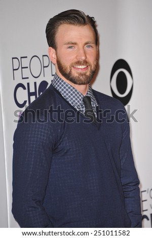 LOS ANGELES, CA - JANUARY 7, 2015: Chris Evans at the 2015 People's Choice  Awards at the Nokia Theatre L.A. Live downtown Los Angeles.  - stock photo