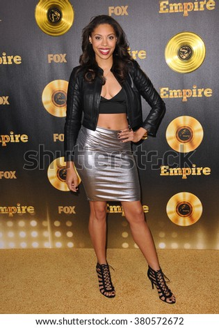 "LOS ANGELES, CA - JANUARY 6, 2015: Ciera Payton at the premiere of Fox's new TV series ""Empire"" at the Cinerama Dome, Hollywood. - stock photo"