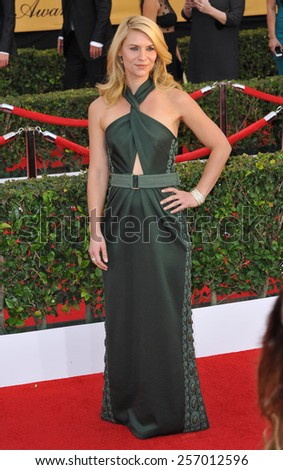 LOS ANGELES, CA - JANUARY 25, 2015: Claire Danes at the 2015 Screen Actors Guild  Awards at the Shrine Auditorium.  - stock photo