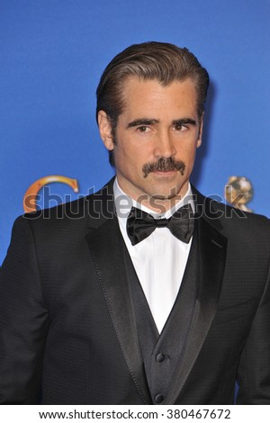 LOS ANGELES, CA - JANUARY 11, 2015: Colin Farrell at the 72nd Annual Golden Globe Awards at the Beverly Hilton Hotel, Beverly Hills. - stock photo